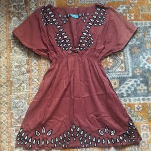 Letarte tunic with cute embroidery, size small